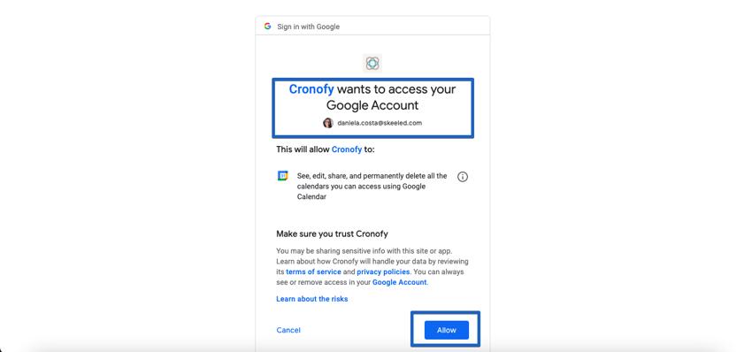 scheduler-cronofy-link-account