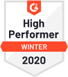 G2 Crowd - Winter 2020 - High Performer