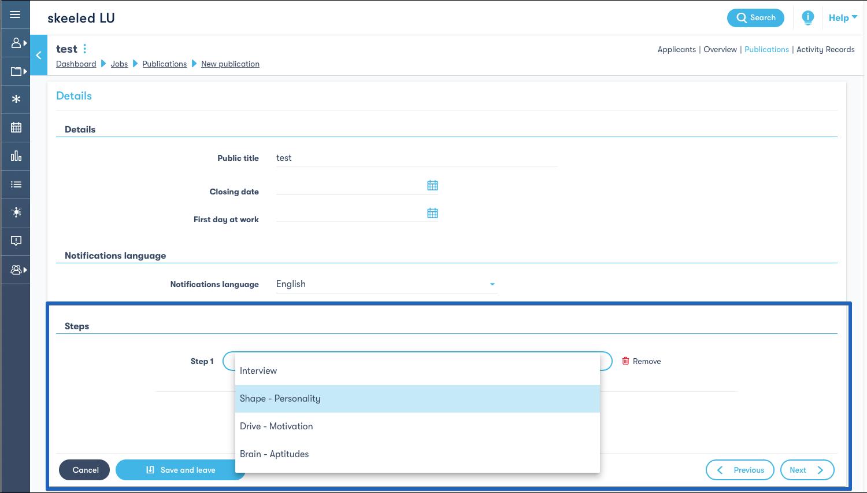 Add steps option