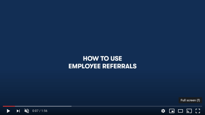 How to use Employee Referrals - YouTube preview